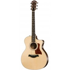 Taylor guitar 214ce Layered Rosewood Back and Sides Grand Auditorium - Cutaway, Electronics, Natural - Includes Taylor Gig Bag