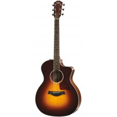 Taylor guitar 214ce Deluxe Grand Auditorium - Tobacco Sunburst - Includes Taylor Deluxe Hardshell Brown