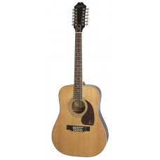 Epiphone Acoustic Guitar DR-212 12 strings Natural - Includes Free Softcase