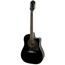 Epiphone Acoustic Electric Guitar AJ-220SCE Ebony - Includes Free Softcase