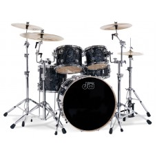 DW Drum Set Performance Finish Ply Series 5 Shells  Bop Kit ( Without Hardware ) - Black Diamond