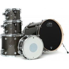 DW Drum Set Performance Finish Ply Series 5 Shells  Bop Kit ( Without Hardware ) - Pewter Sparkle
