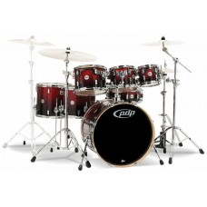 PDP Concept Maple 7-Piece Drum Shell Pack - Red to Black Sparkle Fade ( Without Cymbals )