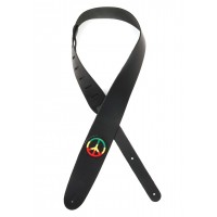 D'Addario Icon Collection Guitar Straps, Jamaican Peace Sign Patch
