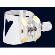 Vandoren Optimum Ligature and Plastic Cap for Bb Clarinet Silver Plated with 3 Interchangeable Pressure Plates -  LC01P