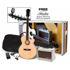 Epiphone guitar PR-4E Acoustic Electric Player Pack