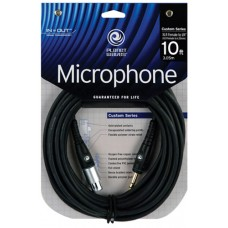 D'addario Custom Series Microphone Cable - XLR Female to 1/4 Inch - 3 Meter