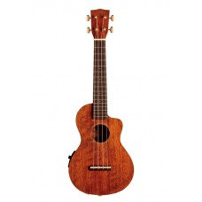 Mahalo Ukulele Concert Hano Elite Series Brown MH2CEVNA With Paded Bag