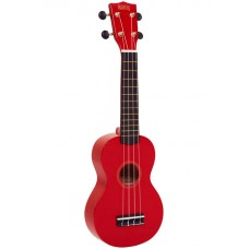 "Mahalo Ukulele Soprano M1 Rainbow ""R"" Series Red MR1RD With Bag"
