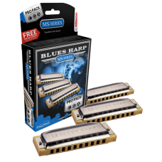 Hohner Harmonica Blues Harp Pro Pack - In C , G and A Keys