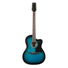 Carlos Acoustic Guitar C901 - Shaded Blue - Include Free Soft Case