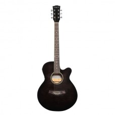 Carlos F511ce Semi-Acoustic Guitar - Black - Include Free Softace