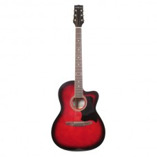 Carlos Acoustic Guitar C901 - Red - Include Free Soft Case