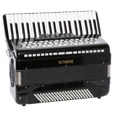 Sunrise Accordion 120 Bass - Black Color