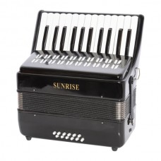 Sunrise Accordion 12 Bass - Black Color