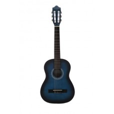 Carlos Classical Guitar 1/2 Size - Blue Color - Include Free Soft Case - Blue