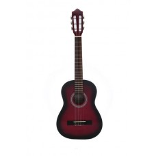Carlos Classical Guitar 1/2 Size - Red Color - Include Free Soft Case