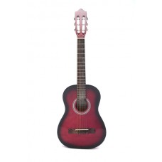 Carlos Acoustic Guitar 1/2 Size - Red Color - Include Free Soft Case