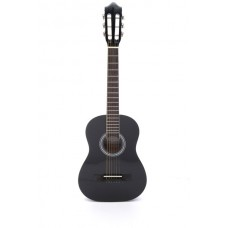 Carlos Acoustic Guitar 1/2 Size - Black Color - Include Free Soft Case