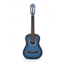 Carlos Acoustic Guitar 1/2 Size - Blue Color - Include Free Soft Case