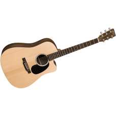Martin Guitar Dreadnought DCX1AEMACASSAR - Semi Acoustic - Natural - Includes B02W Padded Case