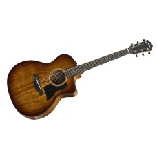 Taylor guitar 224ce Deluxe Koa Grand Auditorium - Shaded Edgeburst - Includes Taylor Deluxe Hardshell Brown