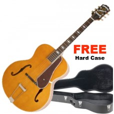 Epiphone Guitar De Luxe Classic, Masterbilt Century Collection - Vintage Natural - FREE Hard Shell Case Included