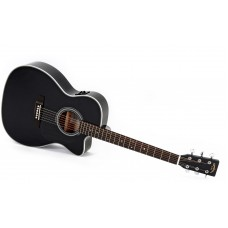 Sigma Guitars 000MC-1STE-BK Semi Acoustic Guitar - Include Softcase - Black