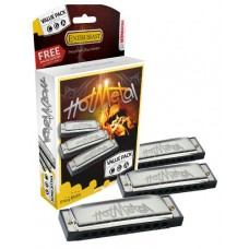 Hohner Harmonica Enthusiast Series - Hot Metal Value Pack - C , G , A Key