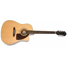 Epiphone Guitar AJ-210CE - Cutaway Acoustic Electric Outfit - Natural - Include Hard Case