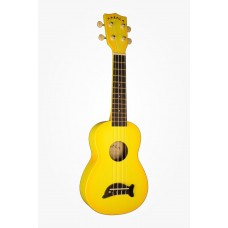 Makala Dolphin Series Soprano Ukulele - Included Bag - Yellow Burst