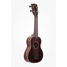 Kala Striped Ebony Series Soprano Ukulele - Included Bag