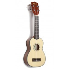 Kala Solid Spruce Mahogany Series Soprano Ukulele - Included Bag