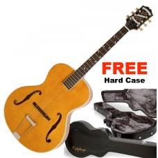 Epiphone Hollow-Body Electric Guitar, Vintage Sunburst - FREE Hard Shell Case Included