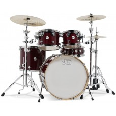 DW Drum Set Design Series 5-piece Shell Pack - Cherry Stain (Cymbals & Hardware Not Included)