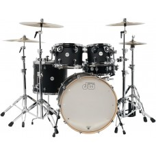 DW Drum Set Design Series 5-piece Shell Pack - Black Satin (Cymbals & Hardware Not Included)