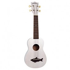 Makala Dolphin Series Soprano Ukulele - Included Bag - Pearl White
