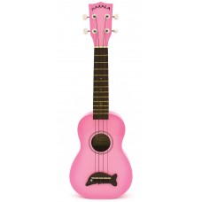 Makala Dolphin Series Soprano Ukulele - Included Bag - Pink