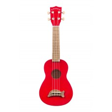 Makala Dolphin Series Soprano Ukulele - Included Bag - Candy Apple Red