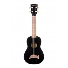 Makala Dolphin Series Soprano Ukulele - Included Bag - Black