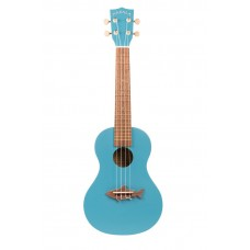 Makala Shark Series Concert Ukulele - Included Bag - Mako Blue
