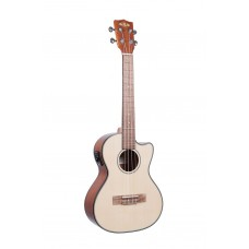 Kala Solid Spruce Top - Mahogany Series Tenor Ukulele - With Equalizer - Cutaway - Included Bag