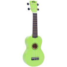 "Mahalo Ukulele Soprano M1 Rainbow ""R"" Series Green MR1GN With Bag"