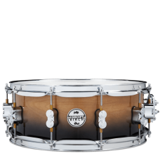 """PDP Concept Birch Snare 5.5"""" x 14"""" - Natural To Charcoal Faded"""