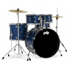 PDP Center Stage 5-Piece Drum Set With Hardware And Cymbals - Royal Blue