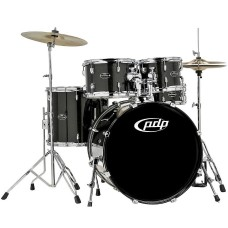 PDP Center Stage 5-Piece Drum Set With Hardware And Cymbals - Onyx