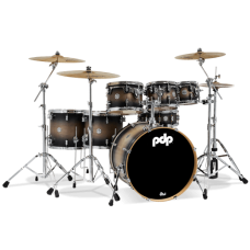 PDP Concept Maple 7-Piece Drum Shell Pack - Satin Charcoal Burst ( Without Cymbals )
