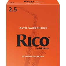 Rico by D'Addario Alto Saxophone Reeds - Strength 2,5 - Box Of 10 Pieces
