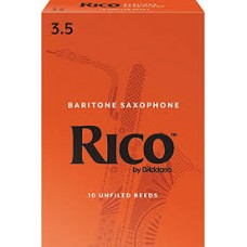 Rico by D'Addario Baritone Saxophone Reeds - Strength 3 - Box Of 10 Pieces