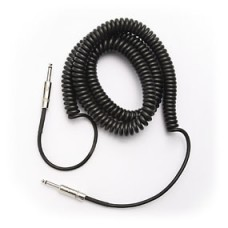 D'addario Braided And Coiled Instrument Cables - 9 Meter - Black